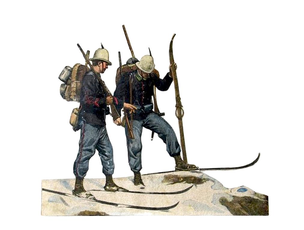 """5344: """"Alpini sciatori italiani"""" (1900). Domenica del Corriere (seconda metà XX secolo)"""