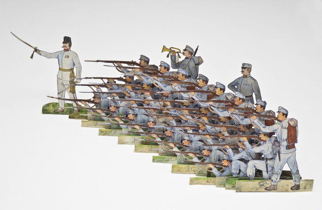 Fanteria austriaca in formazione (1915). Produzione italiana s.n. (1955)